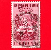VENEZUELA - Usato - 1951 - Stemma Dello Stato Di Tachira - Arms - 1.20 - P. Aerea - Venezuela
