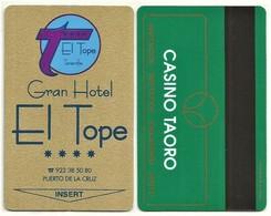 Spanien / Spain Hotelkarte / Keycard  Vom Gran Hotel El Tope In Puerto De La Cruz / Teneriffa - Hotelkarten