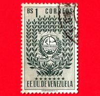 VENEZUELA - Usato - 1952 - Stemma Dello Stato Di Trujillo - Arms - Bs 1 - Venezuela