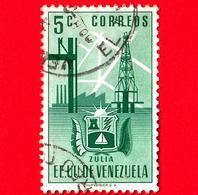 VENEZUELA - Usato - 1951 - Stemma Dello Stato Di Zulia - Arms - 5 - Venezuela