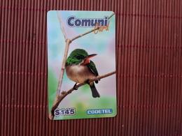 Codetel Bird Prepaid $145 Comuni Card Used 2 Scans Rare - Dominica
