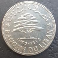 HX - Lebanon 1975 50 Piastres Coin - Liban