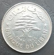 HX - Lebanon 1969 50 Piastres Coin - Lebanon
