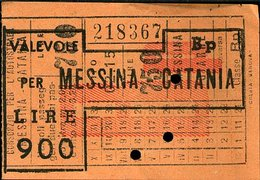 TR35 BIGLIETTO AUTOSTRADA MESSINA CATANIA - Biglietti Di Trasporto