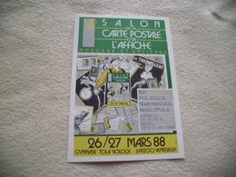 4E SALON DE LA CARTE POSTALE ET DE L'AFFICHE ...VENISSIEUX 1988 - Bourses & Salons De Collections