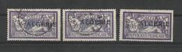 ALGERIE 1924/1925  TROIS Exemplaires  YT N° 32 Oblitérés - Gebraucht