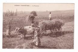 Scènes Champêtres.La Fenaison.B.F.Chalon. - Attelages