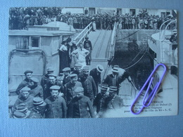 LA ROCHELLE : Départ De Dieudonné Et Deboé De La Bande Tragique Pour Le Bagne De L'île De Ré En 1913 - Prigione E Prigionieri