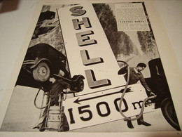 ANCIENNE PUBLICITE SERVICE SHELL HALTE 1931 - Transports