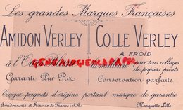 59- MARQUETTE LILLE- BUVARD AMIDON COLLE VERLEY- AMIDONNERIE RIZERIE DE FRANCE- OURS BLANC - Produits Ménagers