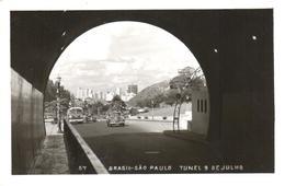 POSTAL    SAO PAULO  -BRASIL  -TUNEL 9 DE JULHO - São Paulo