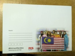 Malaysia Independence Day 2018 Flag Merdeka Unity National Day Envelope Official - Malaysia (1964-...)