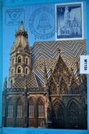M1156 FDC 25 Jahre Wiedereröffnung Stephansdom Wien, Kirche, Church, Eglise, Iglesia, Chiesa, AT 1977 - Cartes-Maximum (CM)