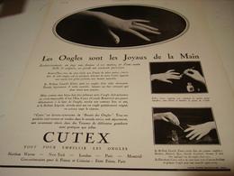 ANCIENNE PUBLICITE LES ONGLES ET CUTEX 1931 - Other