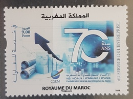 Morocco 2018 New MNH Stamp - 70th Anniv General Union Of Morocco Companies, Economy, Market - Morocco (1956-...)