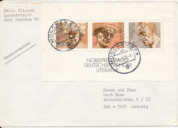 Germany Cover 11-3-1978 With Mini Sheet Nobel Prize Winners - [7] Federal Republic