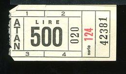 TR49 BIGLIETTO ATAN LIRE 500 - Metropolitana