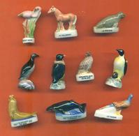 Lot De 10 Feves Porcelaine Animaux Diverses - Animals
