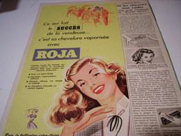 ANCIENNE PUBLICITE CHEVEUX LONG OU COURT  ROJA  1956 - Parfums & Beauté