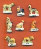 Lot De 8 Feves Porcelaine Animaux Diverses Dont Chiens - Animals