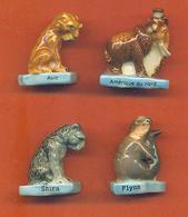 Lot De 4 Feves Porcelaine De La Serie Animaux Prehistoriques - Animals