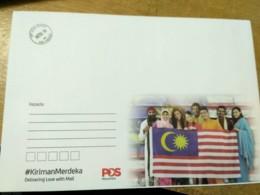 Malaysia Independence Day 2018 Flag Merdeka Unity National Day Envelope Official Postmark University - Malaysia (1964-...)