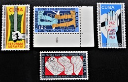 CONFERENCE PAYS SOUS-INDUSTRIALISES 1961- NEUFS **/* - YT PA 217/20 - Unused Stamps