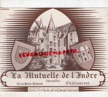 36- CHATEAUROUX- RARE GRAND BUVARD LA MUTUELLE DE L' INDRE-25 RUE PORTE THIBAULT -IMPRIMERIE E. COURCHINOUX - Banque & Assurance