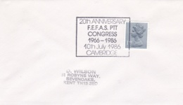 Great Britain Cover 1986 Cambridge 20th Anniversary FEFAS PTT Congress  (T20-19) - 1952-.... (Elizabeth II)