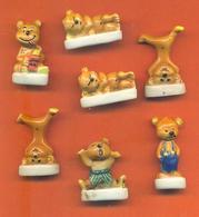 Lot De 7 Feves Porcelaine De La Serie Les Petits Oursons Dont Doubles - Animals