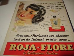 ANCIENNE PUBLICITE CHEVEUX BRILLANTINE ROJA FLORE 1954 - Other