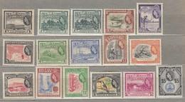 BRITISH GUIANA 1954 MVLH (**/*) Mi 199-213, SG 331-345 #23295 - British Guiana (...-1966)