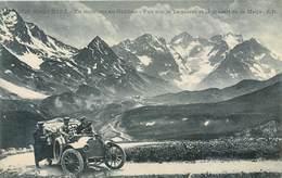 Dauphiné En Montant Au Galibier Lautaret Massif De La Meije - E.R. 1721 - Automobile - Montagne - Neuve - Savoie Alpes - Autres Communes