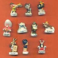 Lot De 10 Feves Porcelaine Looney Tunes - Warner Bross Diverses - Cartoons