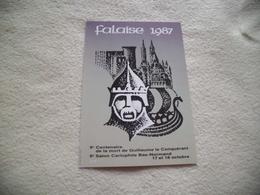 9E SALON CARTOPHILE BAS-NORMAND ...FALAISE 1987 ..SIGNE A. BILLAUX - Collector Fairs & Bourses