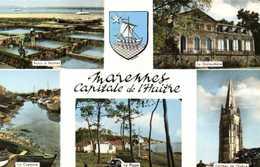 Marennes Capitale De L'Huitre Multivues + Blason RV - Marennes