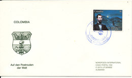 Colombia Cover FDC ??? Jose Asuncion Silva 1986 Sent To Germany - Colombia