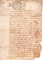 33 ST SAINT LAURENT DU MEDOC FLEURS DE LYS DOCUMENT ARCHIVE ARCHIVES TESTAMENT DONNATION - Historical Documents