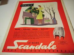 ANCIENNE PUBLICITE CHOISIR GAINE SIGNE SCANDALE 1954 - Habits & Linge D'époque