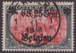 Belgium OC 0025**(o) 6.25  Noir Et Carmin - Guerre 14-18