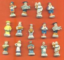 Lot De 14 Feves Porcelaine Thiriet Les Métiers Du Village Dont Doubles - Characters