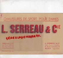 41- BLOIS- BUVARD L. SERREAU & CIE- CHAUSSURES SPORT POUR DAMES-8 ROUTE CABOCHON -IMPRIMERIE MARCEL SCHMITTE BELFORT - Chaussures