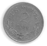 ROUMANIE - ROMANIA - 2 LEI 1924 - Ferdinand I - Roumanie