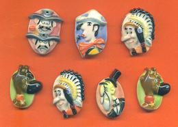 Lot De 7 Feves Porcelaine Plates Lucky Luke Dont 2 Doubles - Fumetti