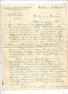 Lettre En Tête SOCETE CENTRALE MAROCAINE , CASABLANCA , 1920 , Double Face ,  Frais Fr 1.55 E - Non Classés