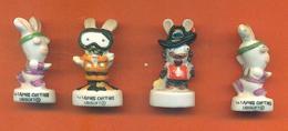 Lot De 4 Feves Porcelaine Sur Les Lapins Crétins - Disney
