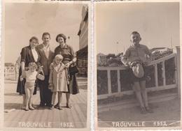 2 Photos De Personnes A Trouville En 1952 Format 8,5x12,5 - Identified Persons