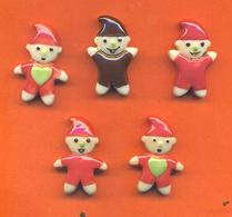 Lot De 5 Feves Porcelaine Thiriet Les Petits Lutins - Characters