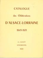 Biblio-Alsace Lorraine Oblitérations  SCHOTT - Timbres