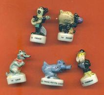 Lot De 5 Feves Porcelaine Sur Les Fables De La Fontaine - Geschiedenis